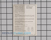 Service Tech Sheet - Part # 446266 Mfg Part # 216433200