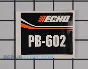 Label - Part # 2268201 Mfg Part # X503001550