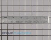 Label - Part # 2296928 Mfg Part # 8091441