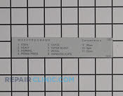 Label - Part # 1375498 Mfg Part # 8063401-49