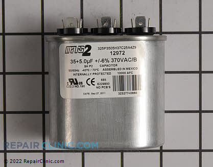 Dual Run Capacitor 12972 Main Product View