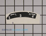 Decals and Labels - Part # 1621189 Mfg Part # 777I23312