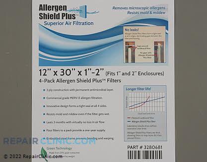 Air Filter PF3P123001AT-4  Main Product View