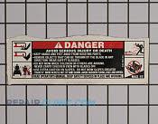 Label-deck safety - Part # 1621200 Mfg Part # 777S33184