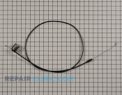 Brake Cable - Part # 2143332 Mfg Part # 107-3910