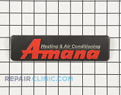 Nameplate, amana - Part # 3196022 Mfg Part # 0161M00003P