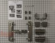 Dishwasher upper dishrack adjuster kit with instructions