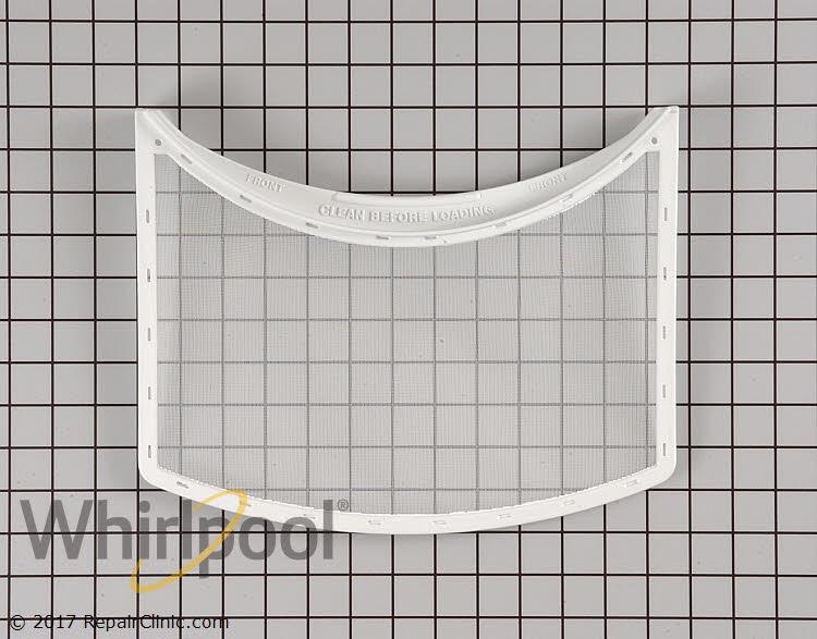 Dryer slide in lint filter - Item Number WP33001003
