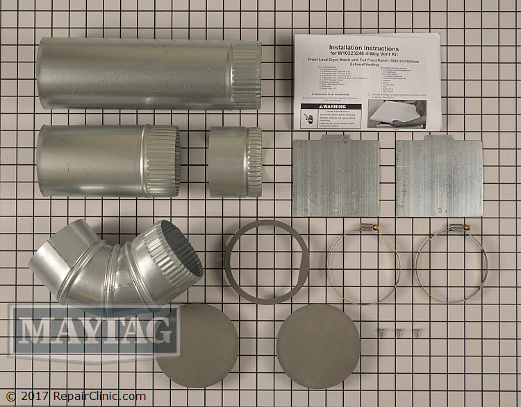 Side Venting Kit W10323246 Maytag Replacement Parts