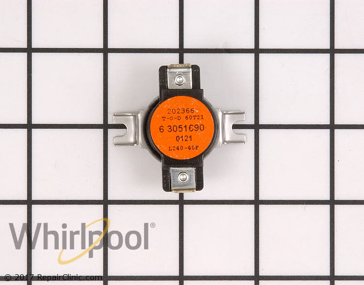 Replacement for Whirlpool 305169 High Limit Thermostat L240-40F