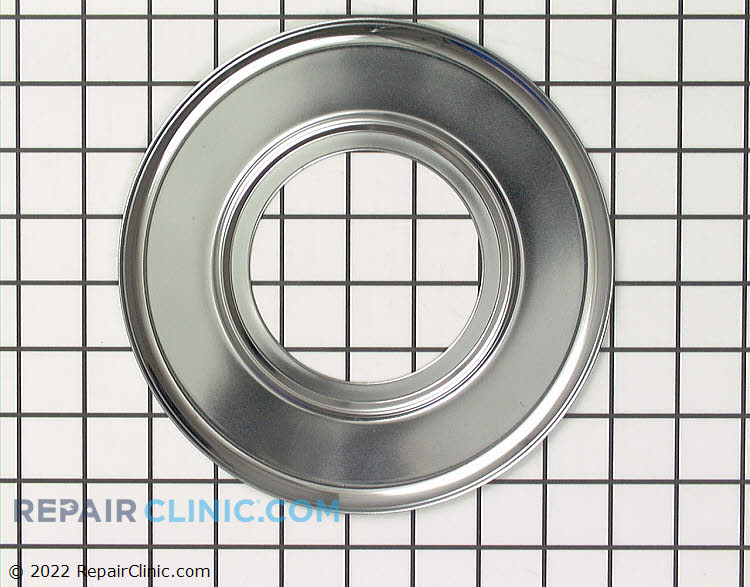 Chrome drip bowl for gas range