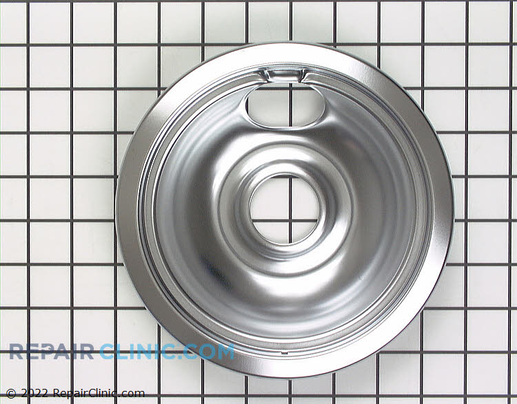"Chrome drip bowl for 6"" burner, electric range"