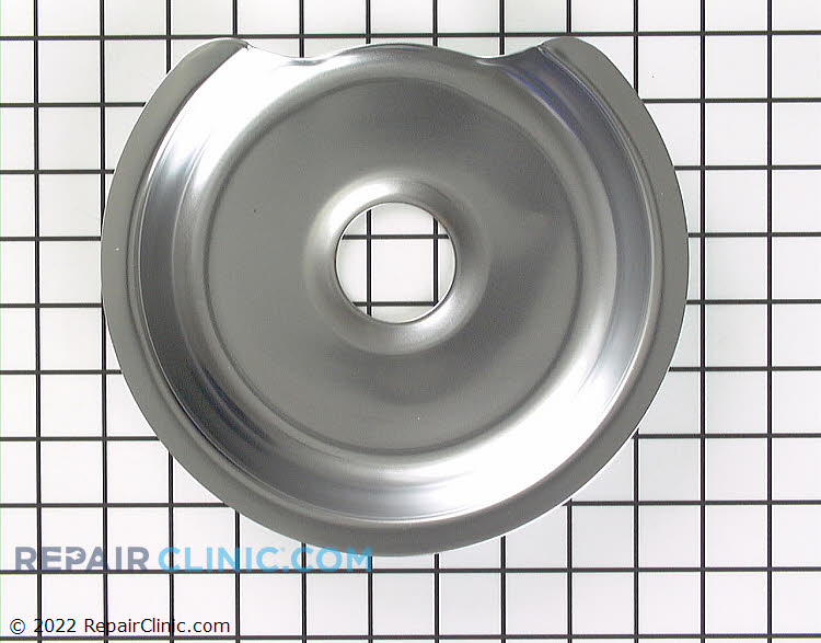 "8"" Burner pan, electric range"