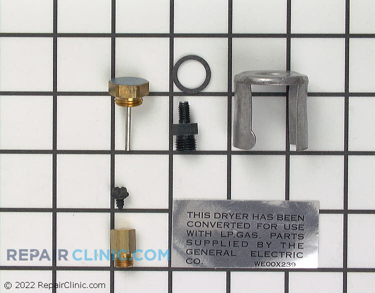 Three coil gas valve conversion kit, natural to LP gas, with instructions