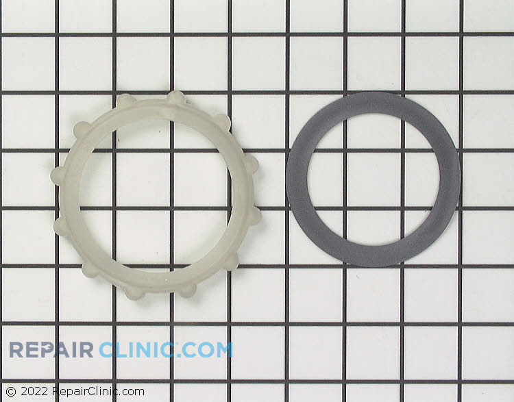 Nut and gasket for spray arm support