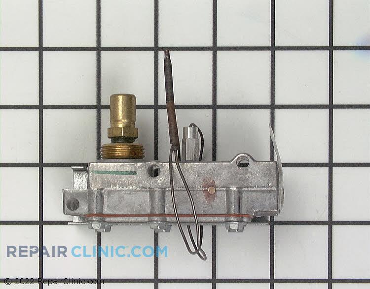 Gas safety valve with pilot thermocouple and orifice