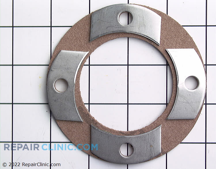 Gasket and reinforcing plate assembly
