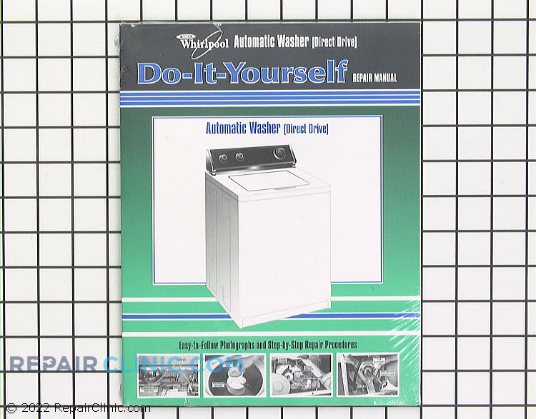 Repair manual for Whirlpool - Kitchen Aid - Kenmore - Roper - Estate direct drive washing machines.