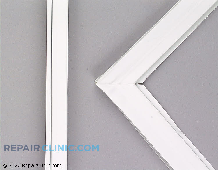 Refrigerator door gasket, white. 27-3/4  by 44 inches.
