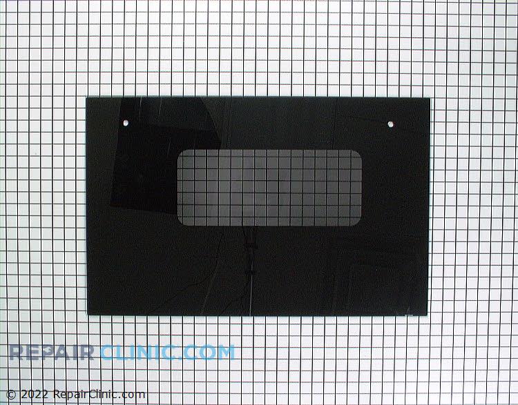"""Oven door glass, black 28-3/4"""" x 18-1/4"""""""