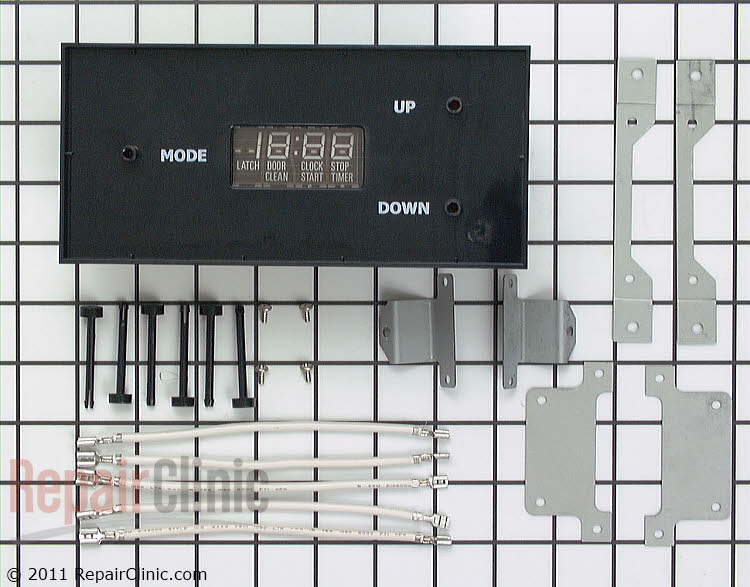 Electronic clock kit, replaces mechanical clocks with more reliable digital timer. *Note: Wiring may be difficult, best to have installed by an appliance repair person.