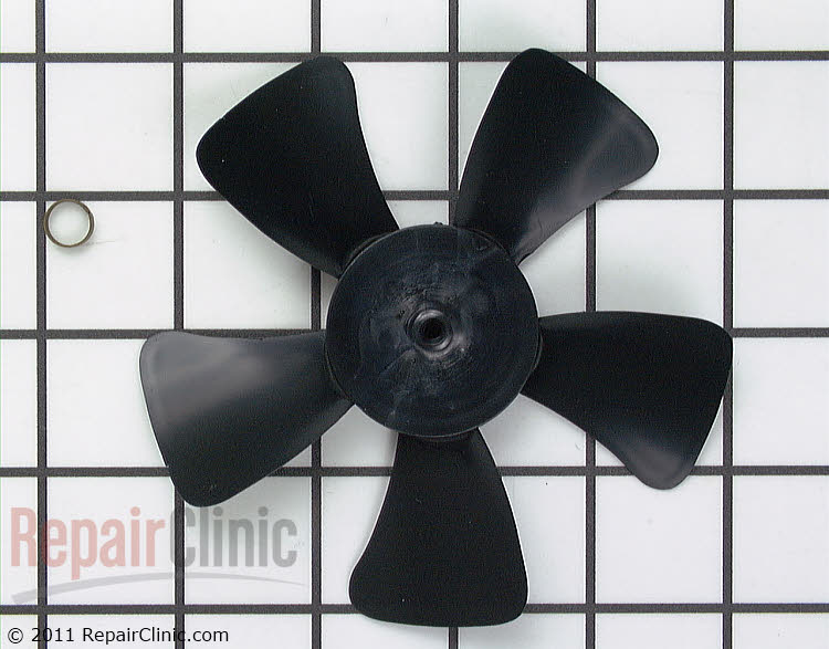 Evaporator fan blade with spring clamp