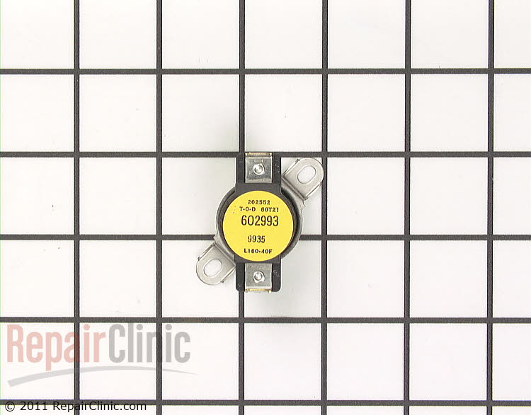 Dryer cycling thermostat, L100- 40F