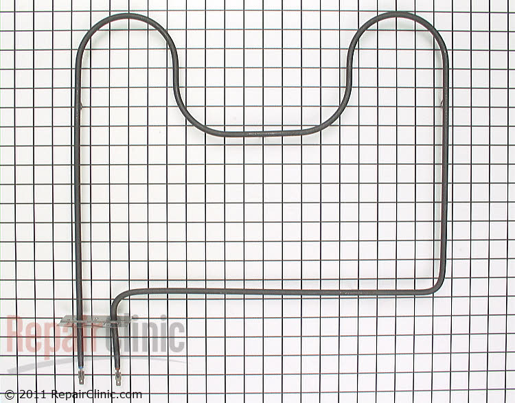 Oven bake heating element for lower oven. The terminals are male quarter inch spade connectors. The wires push onto the heating elements connectors. If the oven does not bake then the element could have burned out.