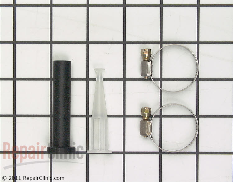 Injector tube and nozzle kit for the water inlet valve on a washer.