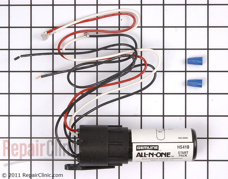 hard start kit rco410 | repairclinic.com hard start kit wiring diagram ac wiring diagram for hard start kit