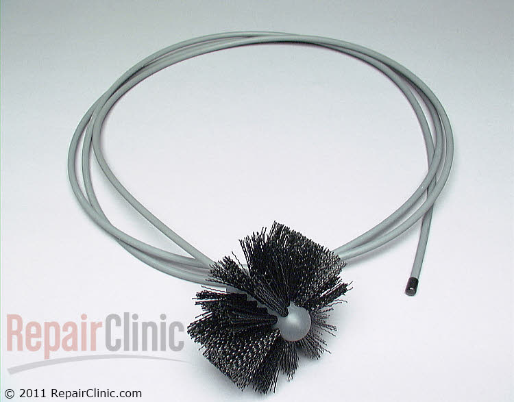 "Dryer vent cleaning brush. For 4"" diameter  round ducts. 10 feet long."