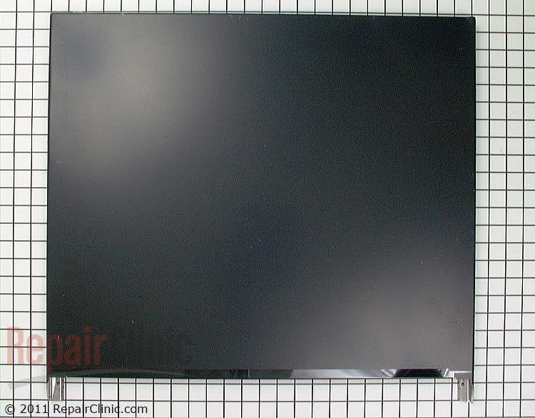 Panel front- long black