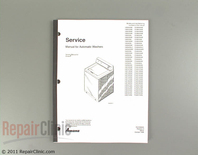 Repair Manual RS3100005 Alternate Product View