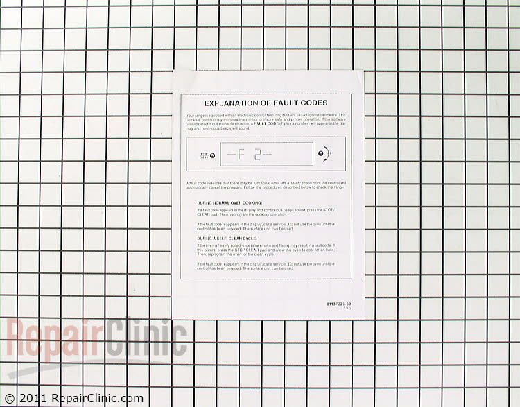 Manuals, Care Guides & Literature 8113P026-60 Alternate Product View