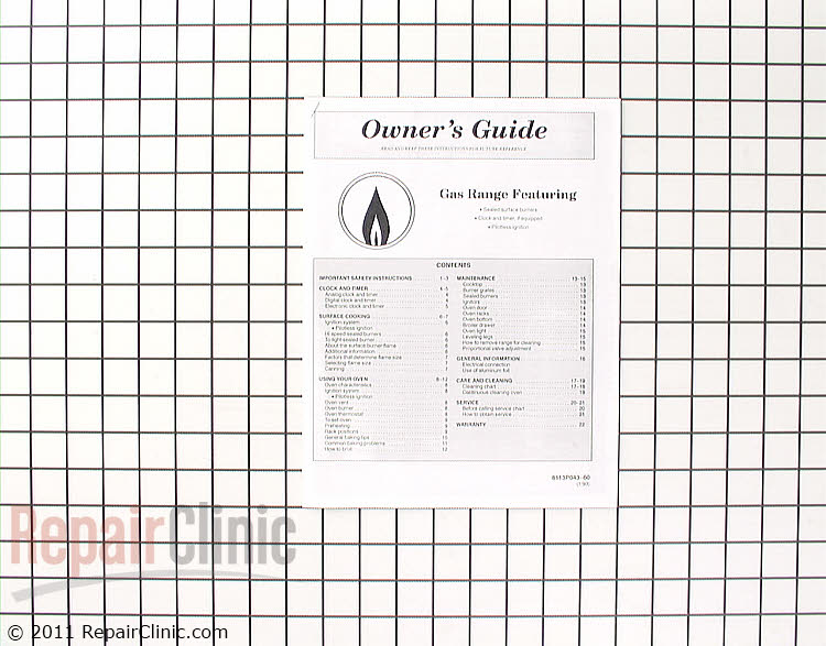 Manuals, Care Guides & Literature 8113P043-60 Alternate Product View