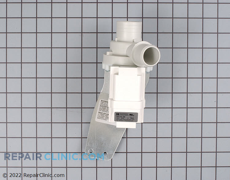 Washing machine drain pump assembly - Item Number WH23X10030