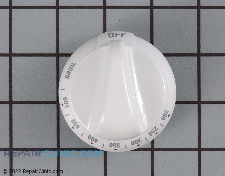 Range/stove oven temperature control knob, white