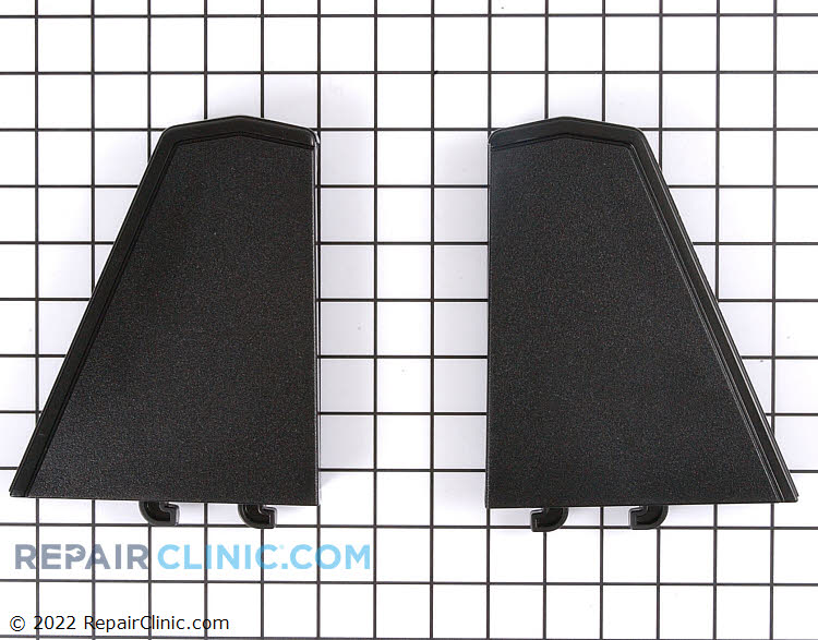 Control panel end cap kit, right and left, black
