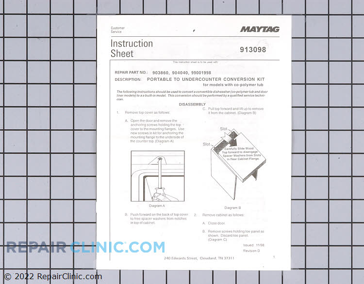 Conversion Kit W10175931       Alternate Product View