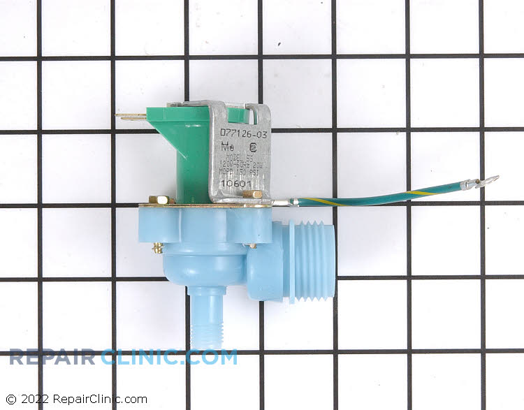 Icemaker water inlet valve with hose threads
