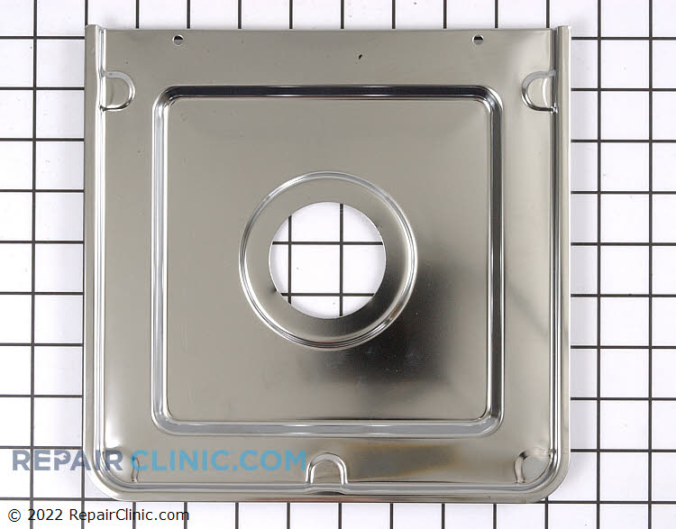 Chrome drip pan for gas range, small burner, 1 per package