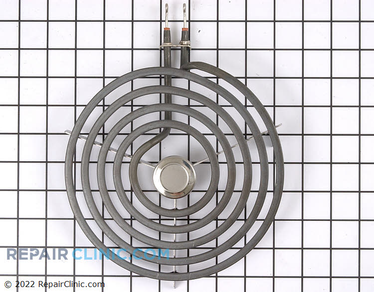 "Electric surface element, 8"", chrome center cap, 2100 watt, 5 turn"