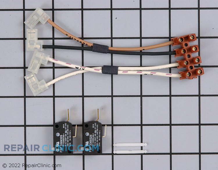 Dishwasher door switch repair kit. This door switch prevents the dishwasher from running while the door is open. If the door switch is defective, the switch will prevent the dishwasher from running even when the door is closed.