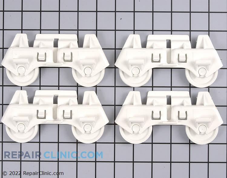 Dishwasher lower rack wheels, set of 4
