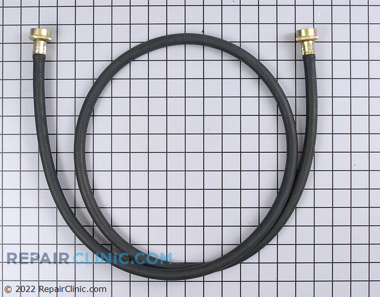 Six foot water supply hose for hot or cold water