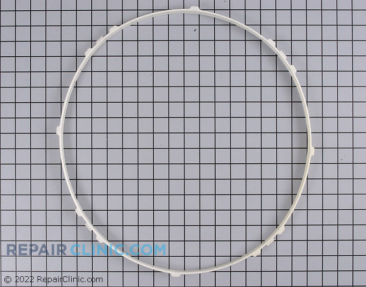 Plastic bearing ring for front of drum