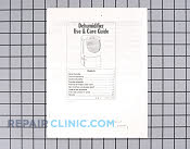 Manuals, Care Guides & Literature - Part # 191622 Mfg Part # LIT1172401