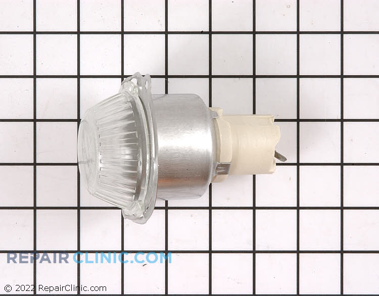 Oven lamp housing assembly