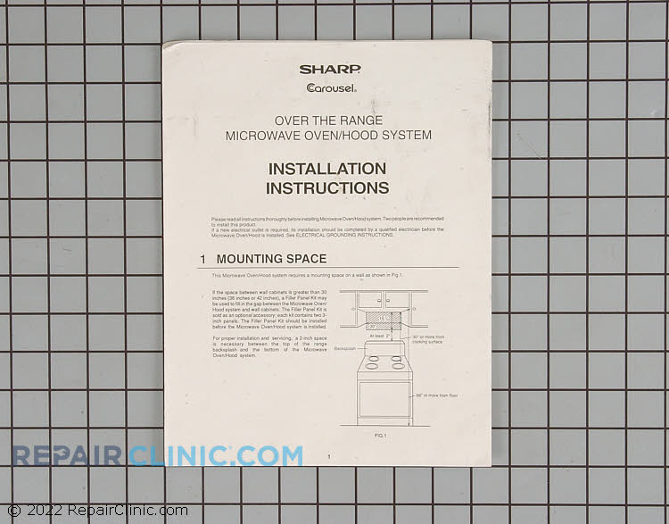 Installation Instructions TINSEB141MRR0 Alternate Product View