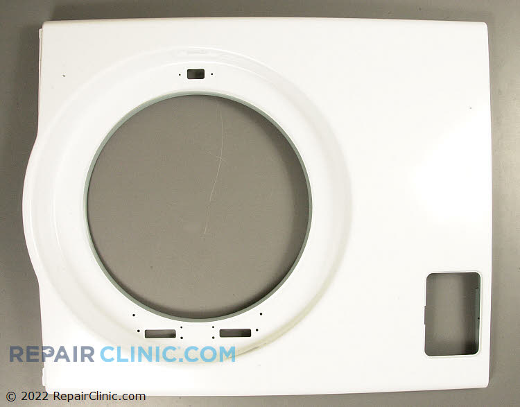 Front washing machine cabinet panel